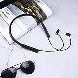 TianranRT Oreillette Bluetooth Sans Fil - Oreillette Bluetooth Oreillette Sans Fil Oreillette Bluetooth Avec Casque,Nouveau Casque À La Mode,Noir (20Cm * 18Cm * 7Cm)