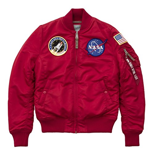 Alpha Industries MA-1 FV Nasa W Giacca Bomber speed red