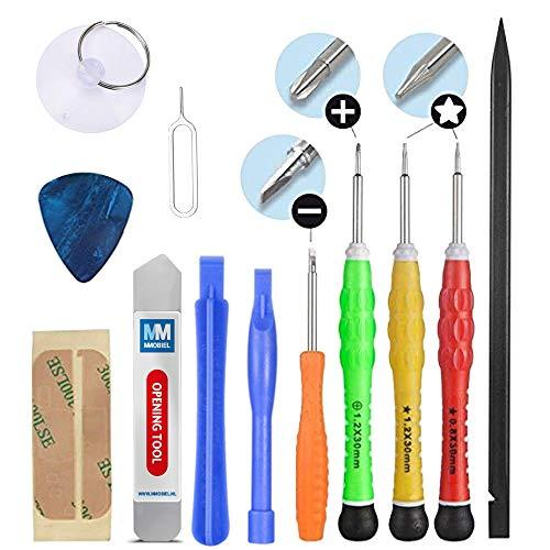 MMOBIEL Schraubenzieher Satz 13teilig Komplettes Premium Reparatur Öffnungs Werkzeug Kit Schraubendreher Set (Handy-reparatur Komplette Kit)