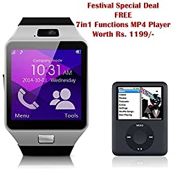 Samsung GALAXY CORE PRIME 4G Compatible and Certified Smart Watch with SIM, 16GB memory card support for Android or use as Mobile with Wireless Bluetooth Connectivity ( Get Mobile Charging Cable worth Rs 239 FREE & 180 days Replacement Warranty )