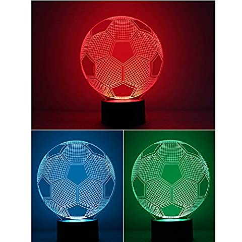 Yesorno Illusion 3D Deco Light Soccer football LED Lamp Night Light for UEFA champions league