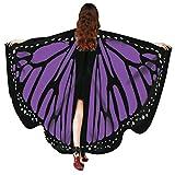 ITISME Châle Femmes Halloween Papillon Ailes ChâLe Foulards Dames Accessoire De Costume De Nymphe Pixie Poncho ChâLe Cape...