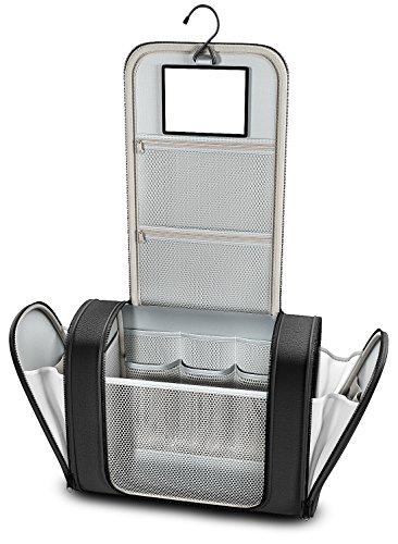 Kulturtasche groß zum Aufhängen mit Spiegel + Innentaschen für Herren, Damen, Kinder –Premium Reise Kulturbeutel wasserfest | Waschtasche Kosmetikbeutel | Koffer, Handgepäck, Outdoor | Männer Frauen