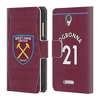 Head Case Designs Offizielle West Ham United FC Angelo Ogbonna 2018/19 Spieler Home Kit Gruppe 1 Brieftasche Handyhülle aus Leder für Lenovo B/Vibe B