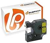 Bubprint Schriftband kompatibel für Dymo 45018 S0720580 für Labelmanager 100 120P 150 160 210D 220P 260P 280 300 350 360D 400 420P 450 500TS 12mm x 7m