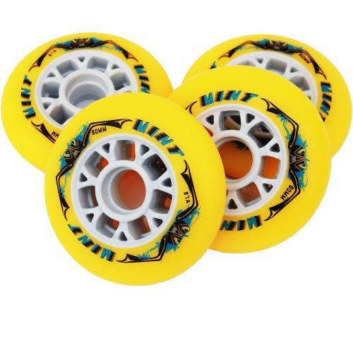 8 St. Mint Inline Skate Race Speed Rollen - 90mm - High Rebound, Size: Härte 87A