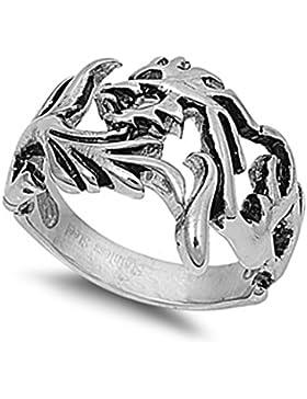 Ring aus rostfreiem Stahl - Drache