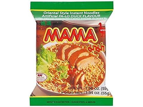 Mama - Asia Nudeln Ente Geschmack - 30er Pack (30 x 55g) - 1 Karton Thai Fertiggericht (Thai Nudeln)