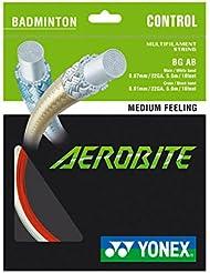 YONEX aerobite 0,67mm Rouge x 0,61mm Blanc (hybride) Set de badminton