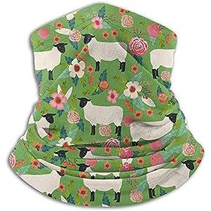 Merle House Nackenwärmer Gamasche Suffolk Sheep Farm Weiche Mikrofaser Kopfbedeckung Gesicht Schal Maske Für den Winter Kaltes Wetter Warm halten