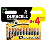 2 X Duracell Batterie Plus Power Micro AAA 8er + 4 gratis Sonderpack (12 Batterien)