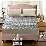 GUANLIDE spannbettlaken matratzenschoner,Baumwolle Bettmatratze, Vier Ecken und Gummiband Bettwäsche, Geeignet für einzelne Doppel-Kingsize-Bett @ grau_120 * 200cm