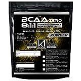 BCAA 8:1:1 500 gr K1 Nutrition Integratore di Aminoacidi Ramificati 811 in polvere con Vitamina b6 Advanced Leucine Formula - GLUTEN FREE - SENZA LATTOSIO - NON OGM - (500 gr. Polvere GUSTO COLA)