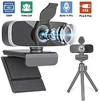 Papalook Webcam HD 1080p AF925 con messa a fuoco automatica, design pieghevole e girevole a 360°, microfono a riduzione...