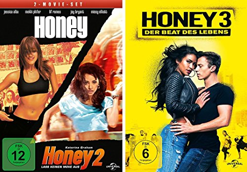 Honey 1-3 (DVD 1/2 + 3) - alle 3 Filme im Set - Deutsche Originalware [3 DVDs]