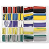 SODIAL(R) 500pcs 2:1 Heat Shrink Tube Heat Shrink Car Electrical Wire Wrap Sleeve Cable Tubing( New Style)