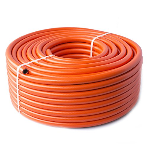 Quantum Garden High Pressure LPG 8mm Propane Butane Calor Pipe, Orange, 2m