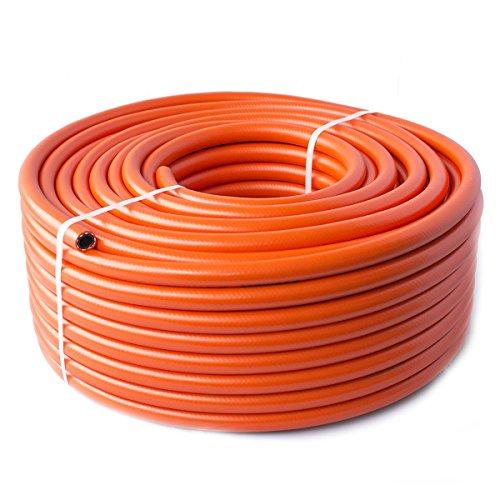 Quantum Garden Tuyau Haute Pression LPG pour Propane Butane Orange 2 m 8 mm