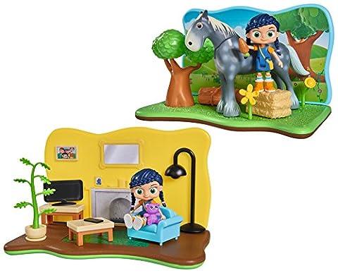 Wissper – Décor 2 en 1 – Monde de l'Herbe – Aire de Jeu 20 cm + 2 Mini figurines