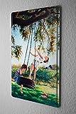 H. L. Koehler Cartel de chapa Placa metal tin sign De Aves Columpio Niñas Letrero De Metal 20X30 cm