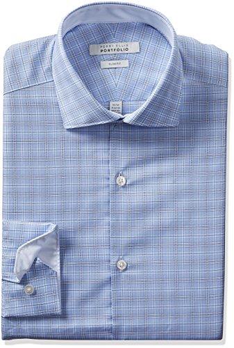 Perry Ellis herren   Hemd   -  blau -  (Ellis Perry Herren-hemd)