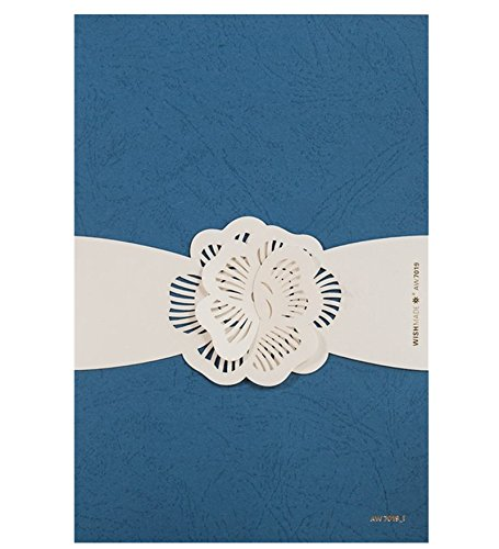 Blau Laser geschnitten Einladungen Karten Kit für Hochzeit Party Geburtstag Anlass (30Stück) (Hochzeit Einladung-kit Braut)