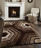 #8: Genius Homes Premium Shaggy Living Room Carpet (3 x 5 Feet)