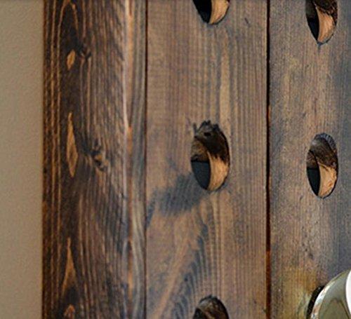 Gyx rustico vino da parete in legno da appendere alla for Nomi in legno da appendere