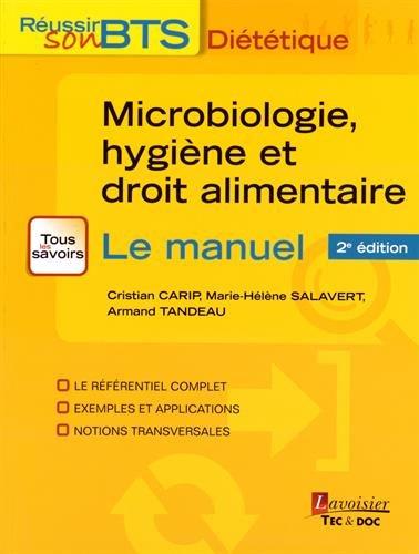 Microbiologie, hygiène et droit alimentaire