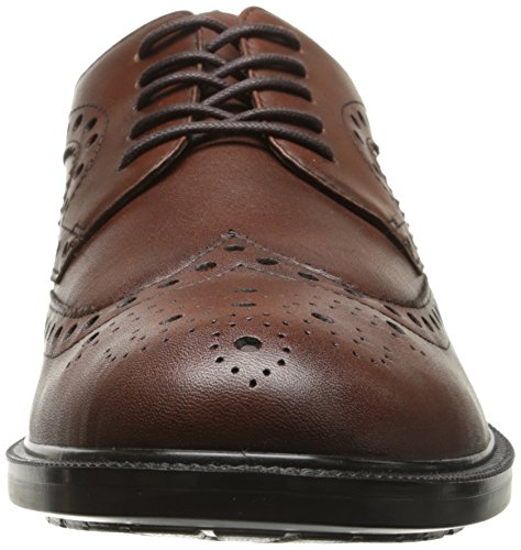 Hush Puppies Mens Issac Banker Oxford Dark Brown Leather