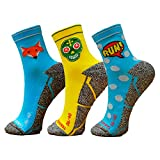 Pack Calcetines Running Mix, 3 Pares, Hombres, Mujer, Divertidos, Foxblue, Skully, Comic, Tallas 36-45 (41-45)