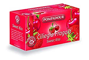 Pompadour - Ciliegia Fragola, Mix alla Frutta per Infuso, 20 Filtri x 3 gr [60 gr]