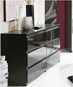 louise kommode schubladenkommode hochglanz weiss. Black Bedroom Furniture Sets. Home Design Ideas