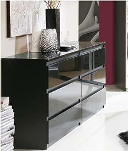 louise kommode schubladenkommode hochglanz weiss. Black Bedroom Furniture Sets. Home Design Ideas