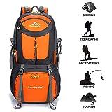 Gohyo Zaino da Trekking 60L Zaini Escursionismo Impermeabile Grandi Leggero per Viaggi Campeggio Alpinismo Orange