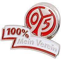 Pin 1. FSV Mainz 05 100 % Mein Verein - 1.5 x 2.5 cm + gratis Aufkleber, Flaggenfritze®