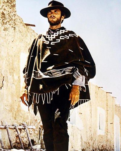 CLINT EASTWOOD Wearing Poncho Sergio Leone occidental