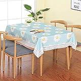 HMsm Pastorale wasserdichte Tischdecke Home Wohnzimmer Tisch Tisch rechteckigen Tischdecke Decktuch Handtuch 100 * 150/ bleu