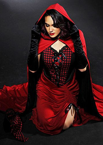 Damen Dunkel Rotkäppchen Kostüm mit Axt Medium (UK (Kostüme Rotkäppchen Dunkles Erwachsene Damen)