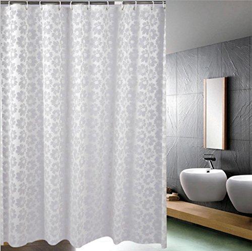 GFYWZ PEVA bianco tenda casa impermeabile muffa Blackout tagliato di appendere la tenda all'ombra di doccia vasca per bagno ,