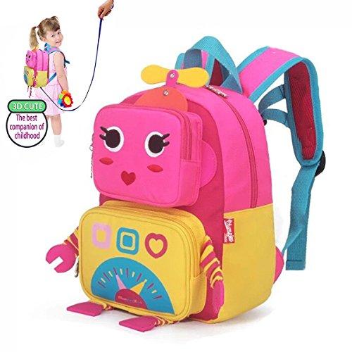 DMbaby DK11 Impermeabile Zaino Scuola Infanzia Zaino Asilo Bambina Ragazza Ragazzi Casual Trekking Viaggio Zainetto Blu Stile2 Rosa