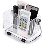 FreshDcart TV-AC Remote Organiser Stand Holder with Plastic Desk Organizer Stylish Pen Makeup Mobile 6-Slot Shelf Stackable S