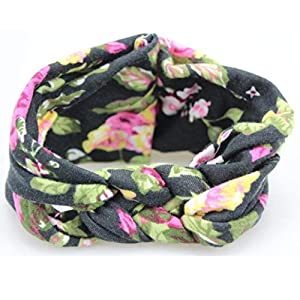 Voberry Baby-Girl's Photo Props Turban Cotton Headband Head Wrap Soft Elastic Hair Band