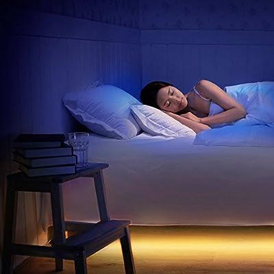 Hokonui Motion Sensor Intelligent Bed Light, Automatic LED Decoration Strip Light for Bedroom Sofa Roof Stair Night Light - Automatic Shut off , Body Sensors Light - 39 inch , 6500k ,110-240v - inexpensive UK light store.