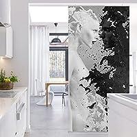 Panel japones Milk & Coffee II 250x120cm | paneles japoneses separadores de ambientes cortina paneles japoneses cortina cortinas | Tamaño: 250 x 120cm incl. soporte de aluminio magnético