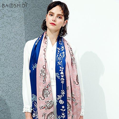 LLZHWSJ Silk/Femelle/Tout-Match/Long Foulard Soie/100 %