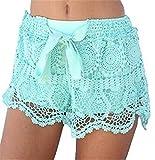 AILIENT Chiffon Sexy Mesh Hohl Mode-Stil Häkelspitzen Shorts Sommer Shorts Strandshorts Lässige Shorts