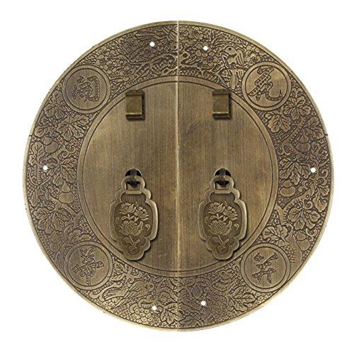 Klopfer,Chinesische klopfer Antike griff Schrank-türen-möbel-hardware-zubehör-kupfer-griff Möbelgriffe Kabinett gesicht flach 13cm-C