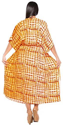 La Leela Designer rayonne maillots de bain design bikini Beachwear femmes couvrir robe top long caftan d'or