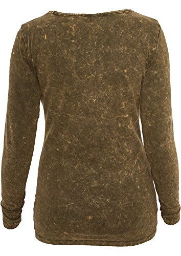 Urban Classics Ladies Stoned L/S Tee Dark Grey Olive
